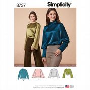 8737 Simplicity Pattern: Misses' Tops